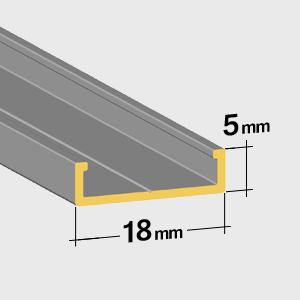 Flache bodenschiene 5mm