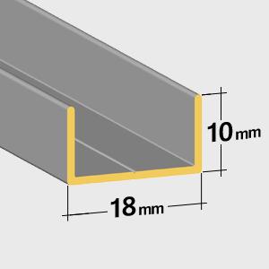 Flache bodenschiene 10mm